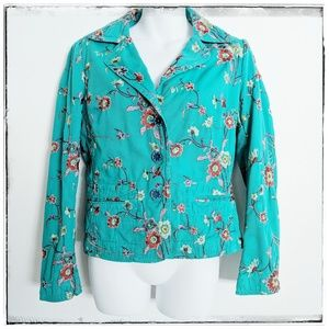 Johnny Was Boho Embroidered Blazer Jacket Sz S